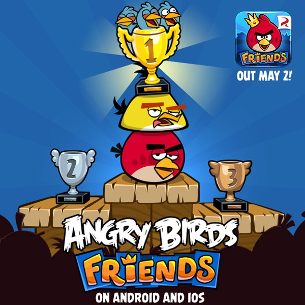2 мая Rovio выпустит Angry Birds Friends для iOS и Android