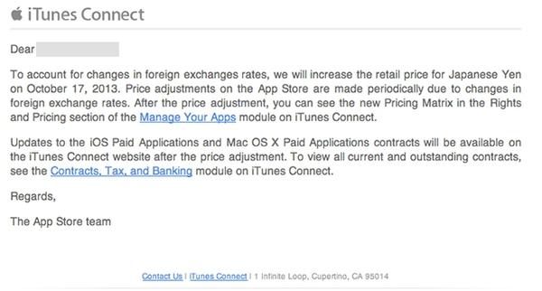 Apple повышает цены в японском App Store