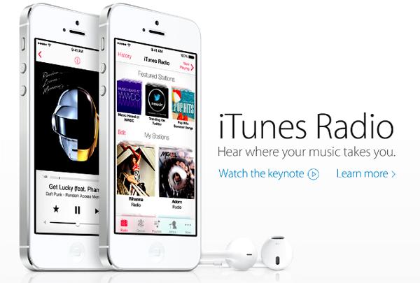 Запуск iTunes Radio увеличил популярность Pandora