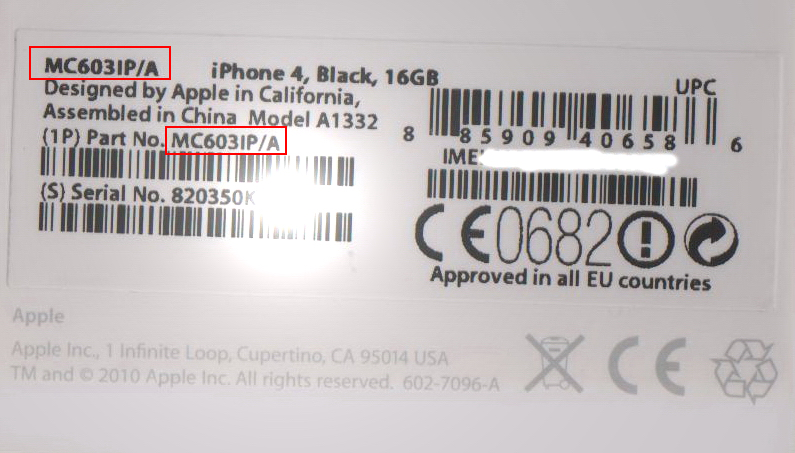 Цвет айфона не совпадает с серийным номером