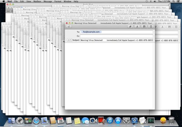 Новый вирус вызывает обрушение системы укомпьютеров Apple