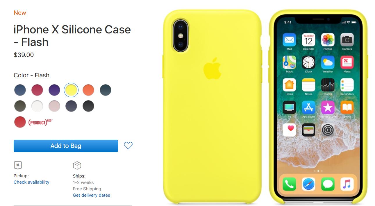 Apple предлагает новые ремешки для смарт-часов ичехлы для iPhone X