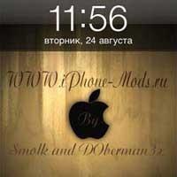 Black Wood for iOS 4 от команды iPhone – mods.ru