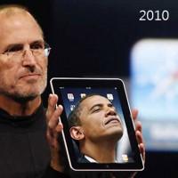 Барак Обама с iPad