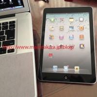 Фотографии макета iPad mini рядом с MacBook Pro