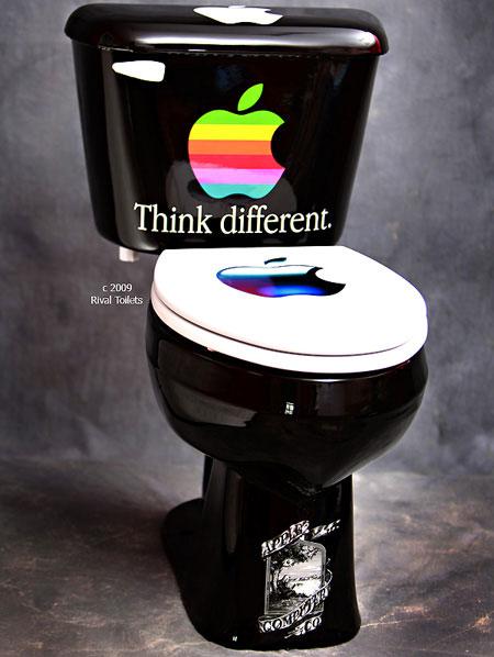unitaz s logotipom apple
