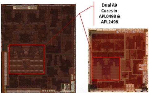 A5 ARM A9 Dual-Core Comparison
