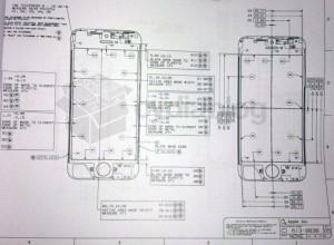 Чертеж iPhone 5